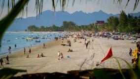 plażowy horyzontalny obrazka piaska scenerii morze Zdjęcie Stock