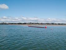plażowy huk w kierunku inflatible nafciany Tauranga Obrazy Stock
