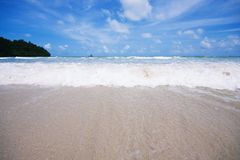 Plażowy i tropikalny morze Obrazy Royalty Free
