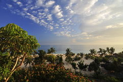 plażowy idyliic tropikalny Zdjęcie Stock