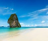 plażowy idylliczny piaska morza niebo Fotografia Stock