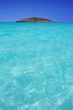 Plażowy Illetas Illetes w Formentera blisko Ibiza Obraz Royalty Free
