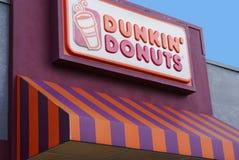 plażowy kakaowy donuts dunkin sklep Zdjęcia Stock