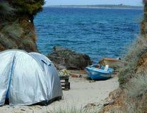plażowy kanarowy Fuerteventura wyspy Spain namiot Zdjęcia Stock