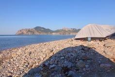plażowy kanarowy Fuerteventura wyspy Spain namiot Zdjęcie Stock