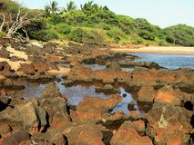 plażowy kapukahehu Molokai Obrazy Royalty Free