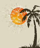 plażowy karciany retro Obrazy Royalty Free