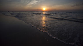 plażowy kazuaryny Darwin zmierzch Zdjęcie Stock