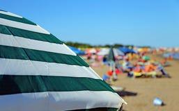 plażowy kolorowy parasol Fotografia Royalty Free