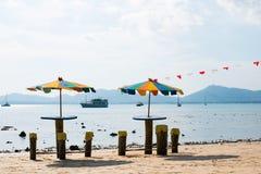 plażowy kolorowy parasol Obraz Royalty Free