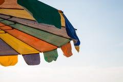 plażowy kolorowy parasol Obrazy Royalty Free