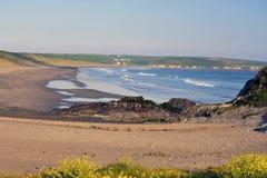 plażowy korkowy zachód Obrazy Royalty Free
