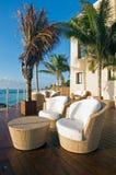 plażowy luksusowego kurortu widok Obrazy Royalty Free