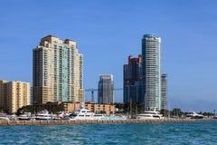 plażowy marina Miami Zdjęcie Royalty Free