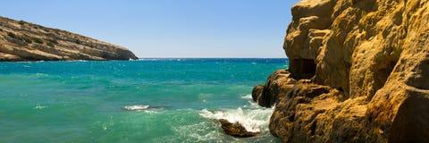 plażowy matala Zdjęcie Royalty Free