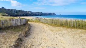 Plażowy MER Francja Fotografia Royalty Free