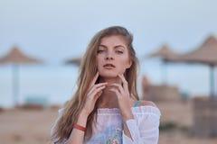 plażowy model Zdjęcie Royalty Free