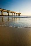 plażowy molo Zdjęcia Royalty Free