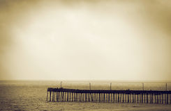 plażowy molo Virginia Fotografia Stock