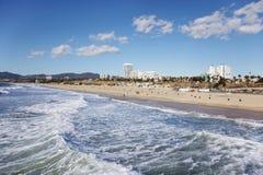 plażowy Monica Santa Fotografia Stock
