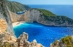 plażowy navagio Zakynthos Zdjęcia Royalty Free