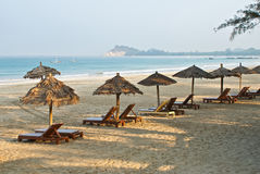 plażowy ngapali fotografia stock