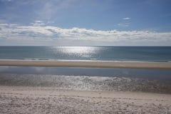 Plażowy niebo i odbicie Obrazy Royalty Free