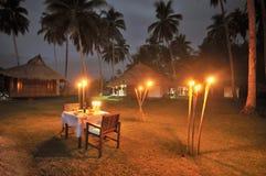 plażowy obiadowy romantyczny Zdjęcie Stock