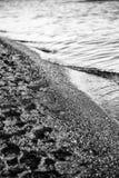 plażowy ostia romans Rome morze burzowy Obrazy Stock
