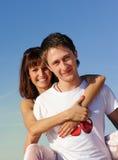 plażowy pary odprowadzenie Obraz Royalty Free
