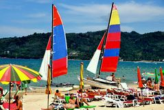plażowy patong Phuket Thailand Obrazy Royalty Free
