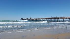 Plażowy peir zdjęcia royalty free