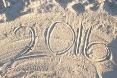Plażowy piasek 2016 Obraz Stock
