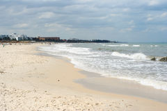 plażowy piaskowaty Tunisia Zdjęcia Royalty Free