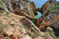 Praia da Piedade, Algarve, Portugalia, Europa zdjęcie royalty free