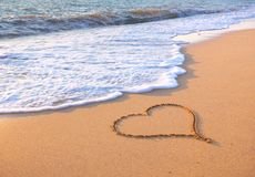 plażowy projekta elementu serce romantyczny Zdjęcie Stock