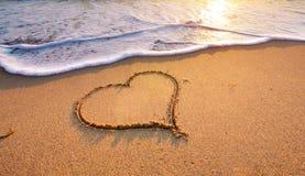 plażowy projekta elementu serce romantyczny Fotografia Royalty Free
