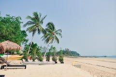 Plażowy przód, widok na ocean Zdjęcia Stock