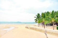 Plażowy przód, widok na ocean Zdjęcie Stock