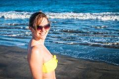 Plażowy przespacerowanie Fotografia Stock