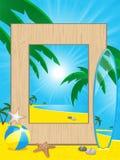 plażowy ramowy wakacyjny picutre Fotografia Royalty Free