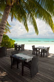 Plażowy reastauruant obraz royalty free