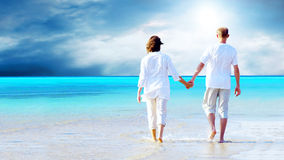 plażowy relaks Zdjęcie Stock