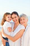 plażowy rodzinny uroczy Zdjęcia Stock
