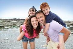 plażowy rodzinny wakacje Zdjęcia Royalty Free