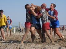 Plażowy rugby Rosolina 2017 - FI vs Rosolina Zdjęcie Royalty Free