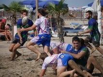 Plażowy rugby Rosolina 2017 - Padova Beachvs Rosolina Fotografia Royalty Free