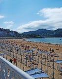 plażowy s San Sebastian Fotografia Stock