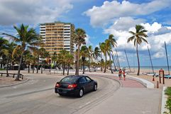 plażowy samochód Obraz Royalty Free