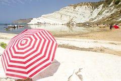 Plażowy Scala dei Turchi, Sicily Obraz Stock